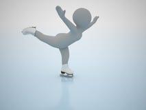 Patinagem artística. Jogos olimpic do inverno. Fotos de Stock