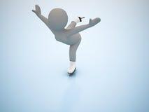 Patinagem artística. Jogos olimpic do inverno. Foto de Stock Royalty Free