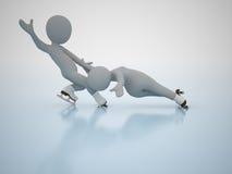 Patinagem artística. Jogos olimpic do inverno. Fotografia de Stock