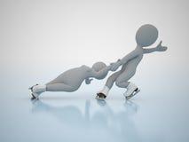 Patinagem artística. Jogos olimpic do inverno. Imagens de Stock Royalty Free
