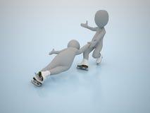 Patinagem artística. Jogos olimpic do inverno. Foto de Stock