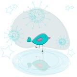 Patinagem bonito do pássaro Imagem de Stock