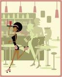 Patinagem da empregada de mesa ilustração royalty free