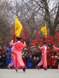 Patinagem de rolo real no templo yuanmingyuan favoravelmente Imagem de Stock Royalty Free