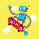 Patinagem do robô Imagens de Stock