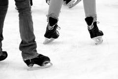 Patinagem no gelo Fotografia de Stock