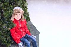 Patinagem no gelo da criança fotografia de stock royalty free