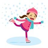 Patinagem no gelo da menina ilustração royalty free