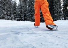 Patinagem no gelo do divertimento imagens de stock royalty free