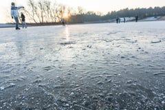 Patinagem no gelo holandesa Imagens de Stock