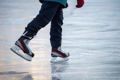 Patinaje de hielo Fotografía de archivo libre de regalías