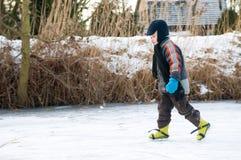 Patinaje de hielo Foto de archivo libre de regalías