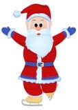Patinaje de Papá Noel stock de ilustración