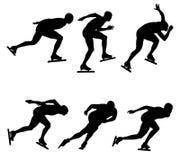 Patinaje de velocidad determinado del hielo del deporte ilustración del vector
