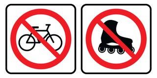 Patine sobre ruedas no y ninguna bicicleta stock de ilustración