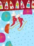 Patines de hielo Foto de archivo libre de regalías