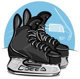 Patines del hockey Fotografía de archivo libre de regalías
