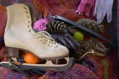 Patines y guantes Imagen de archivo libre de regalías