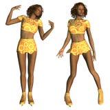 Patineur artistique d'afro-américain Image stock