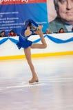 Patineur artistique de fille, Orenbourg, Russie Photo stock