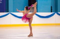 Patineur artistique de fille, Orenbourg, Russie Images libres de droits