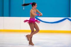 Patineur artistique de fille, Orenbourg, Russie Image stock
