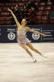 Patineur de glace de champion d'Italien de la Caroline Kostner 2011 Photo libre de droits