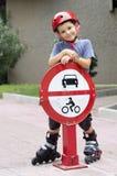 Patineur de rouleau de rue Photos libres de droits