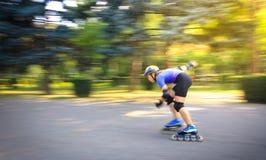 Patineur de vitesse dans la course Images libres de droits