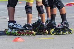 patineurs Photos libres de droits