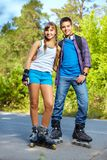 Patineurs adolescents de rouleau Photos libres de droits