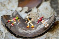 Patineurs minuscules de jouet Photographie stock