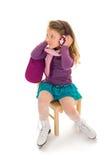 Patineuse de petite fille Photographie stock libre de droits