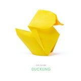 Patinho amarelo do origâmi imagem de stock royalty free