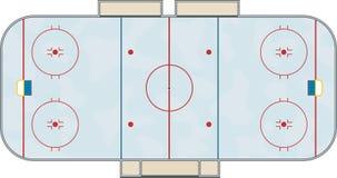 Patinoire d'hockey Photographie stock libre de droits