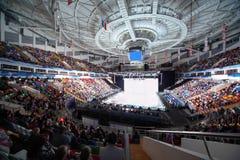 Patinoire de Lit dans le palais des sports Megasport photos stock