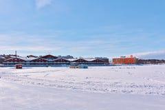 Patinoire de LuleÃ¥s pour la récréation et patiner à travers champs Images stock