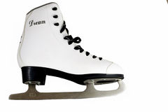 Patins d'isolement sur le blanc Photo stock