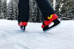 Patins de gelo fotografia de stock