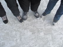 Patins de glace Photo libre de droits