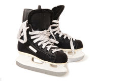 Patins de hockey sur glace Photographie stock