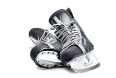 Patins de l'hockey de l'homme. Images libres de droits