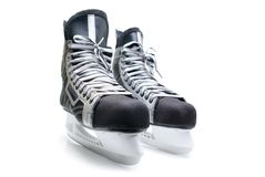 Patins de l'hockey de l'homme. Photo libre de droits