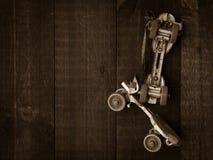 Patins de rolo do vintage com espaço da cópia fotos de stock
