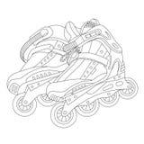 Patins de rouleau 02 illustration de vecteur