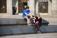 patins de rouleau Images libres de droits