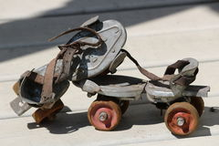 Patins de rouleau antiques Photo libre de droits