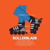 Patins do Rollerblade ou de rolo ilustração stock