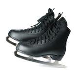 Patins para a patinagem de gelo isolada no branco Imagens de Stock Royalty Free