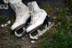 Patins pour la figure patinage Image stock